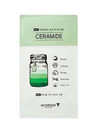 Skinfood Boosting Juice 2 Parçalı Tek Kullanımlık Yüz Maskesi Seramid 2.5 Ml+23 Ml Renksiz